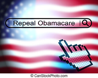 reform, -, obamacare, illustration, remplacer, américain, healthcare, repeal, ou, 3d