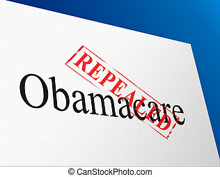 reform, -, obamacare, illustration, remplacer, nous, healthcare, repeal, ou, 3d