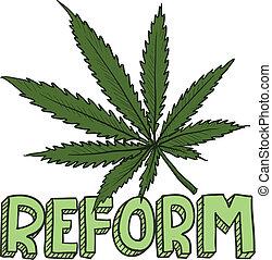 reform, skizze, gesetz, marihuana