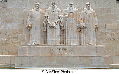 reforma, switzerland., monumento, genebra