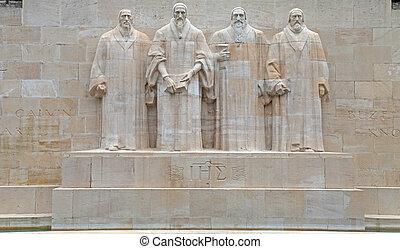 reformacja, switzerland., pomnik, genewa