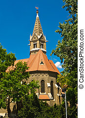 Reformed church of Szeged - Side view of the Reformed church...