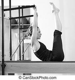 reformer, ジム, 女, pilates, 練習