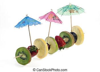 refrescante, fruits