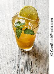 refrescante, té del hielo