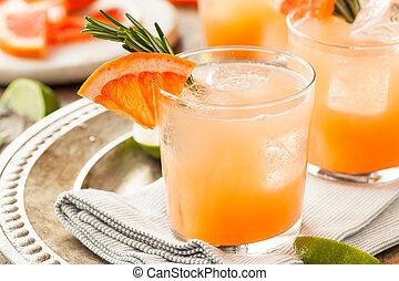 refrescante, toronja, y, tequila, palomas