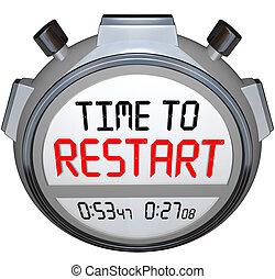refrescar, avisador, tiempo, cronómetro, reinvent, redo, reiniciar