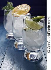 refrescar, gelo, bebidas