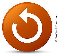 Refresh arrow icon brown round button