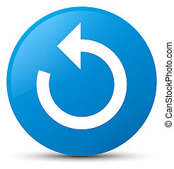 Refresh arrow icon cyan blue round button
