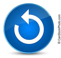Refresh arrow icon elegant blue round button