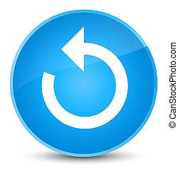 Refresh arrow icon elegant cyan blue round button