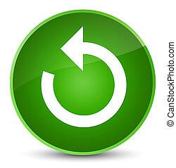 Refresh arrow icon elegant green round button