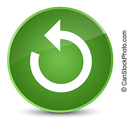Refresh arrow icon elegant soft green round button