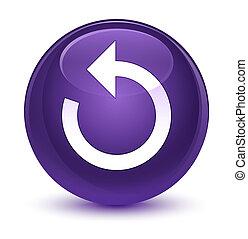Refresh arrow icon glassy purple round button