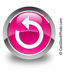 Refresh arrow icon glossy pink round button
