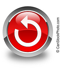 Refresh arrow icon glossy red round button