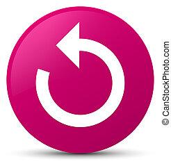 Refresh arrow icon pink round button