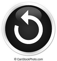 Refresh arrow icon premium black round button