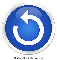 Refresh arrow icon premium blue round button