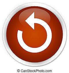 Refresh arrow icon premium brown round button