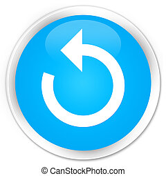 Refresh arrow icon premium cyan blue round button