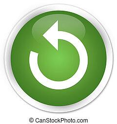 Refresh arrow icon premium soft green round button