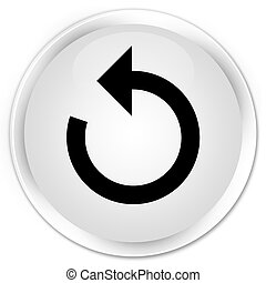 Refresh arrow icon premium white round button