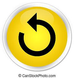 Refresh arrow icon premium yellow round button