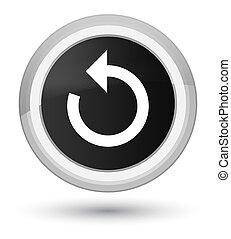 Refresh arrow icon prime black round button