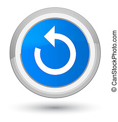 Refresh arrow icon prime cyan blue round button