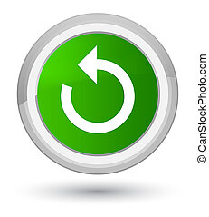 Refresh arrow icon prime green round button