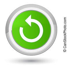 Refresh arrow icon prime soft green round button
