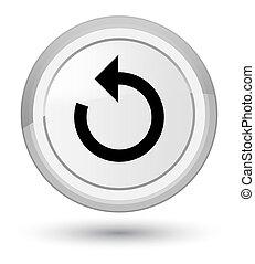 Refresh arrow icon prime white round button