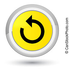 Refresh arrow icon prime yellow round button