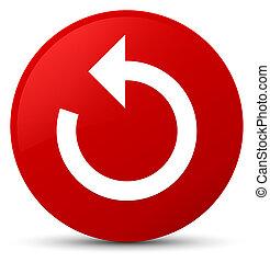 Refresh arrow icon red round button
