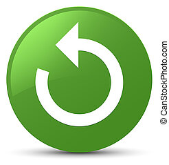 Refresh arrow icon soft green round button