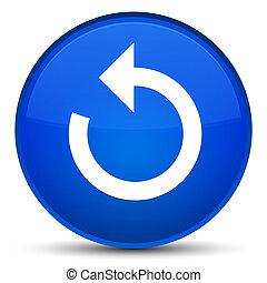 Refresh arrow icon special blue round button