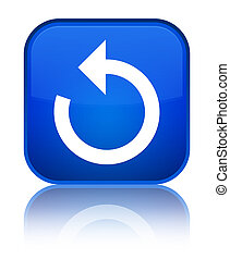 Refresh arrow icon special blue square button