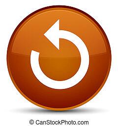 Refresh arrow icon special brown round button
