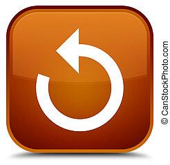 Refresh arrow icon special brown square button
