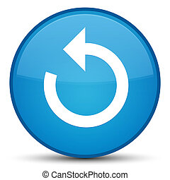 Refresh arrow icon special cyan blue round button
