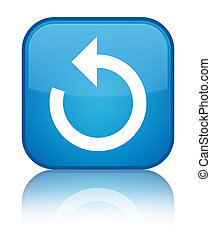 Refresh arrow icon special cyan blue square button