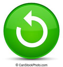 Refresh arrow icon special green round button