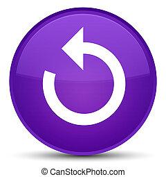 Refresh arrow icon special purple round button