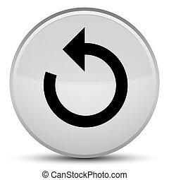 Refresh arrow icon special white round button