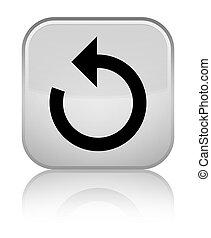 Refresh arrow icon special white square button