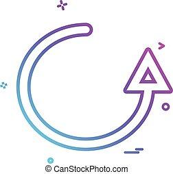 refresh arrow icon vector design