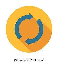 Refresh arrows icon, flat style