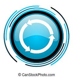 refresh blue circle glossy icon